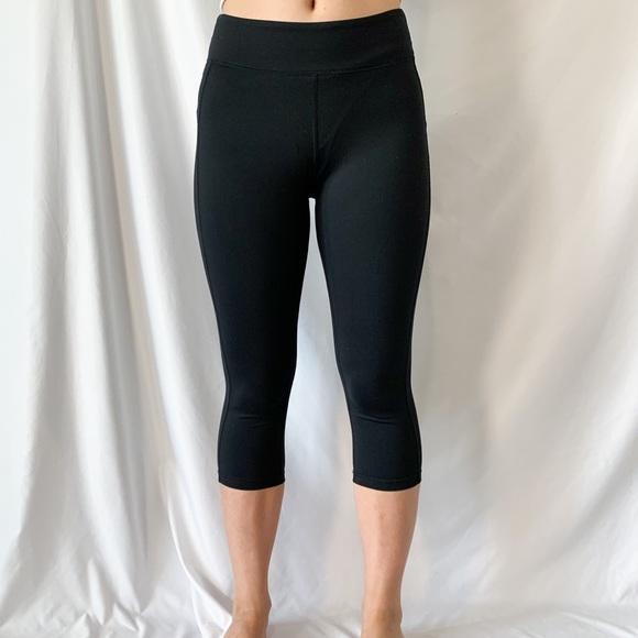 Alo Yoga Black Capri Cropped Workout Leggings Sz M